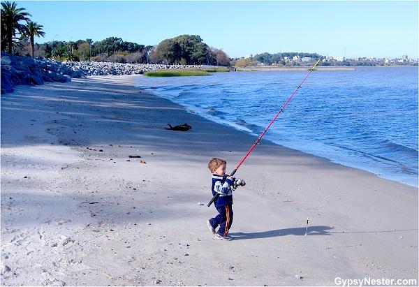 Fisherboy in Uruguay