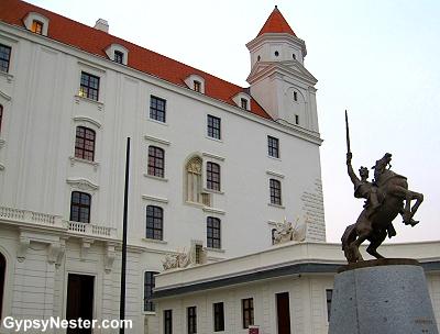 The castle in Bratislava, Slovakia