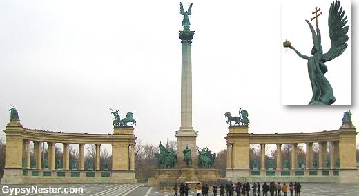 Hősök tere, Heroes' Square, Budapest, Hungary