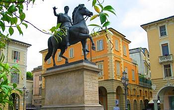 Statue of Carlo Alberto, Casale Monferrato, Italy