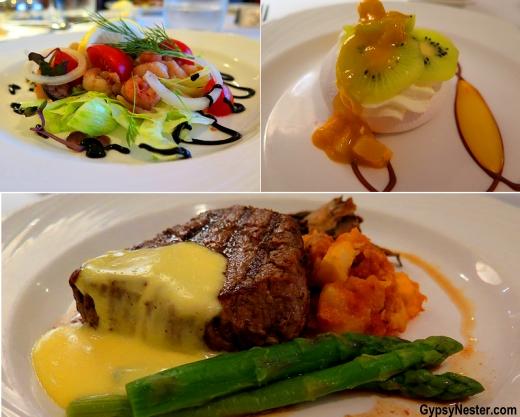 Dinner aboard Fathom's Adonia - Yum!