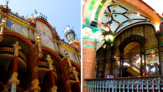 Palau de la Música Catalana built by architect Lluís Domènech i Montaner in 1905.
