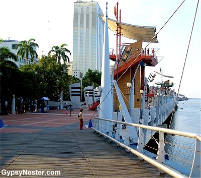 The Malecón in Guayaquil Ecuador