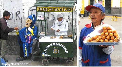 Street food in Lima, Peru