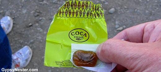 Coca candy in Peru