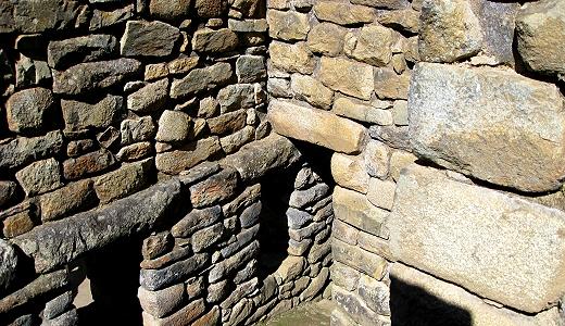 Wonky stones at Machu Picchu