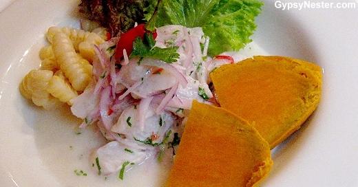 Cerviche Pescado at Señorio de Sulco Restaurant