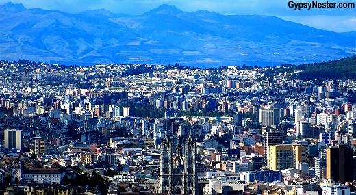 View of Quito Ecuador from El Panecillo