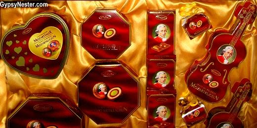 Mozart Chocolates in Salzburg, Austria