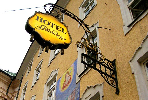 Hotel Amadeus guild sign