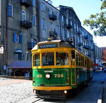 River Street Streetcar, Savannah, Georgia