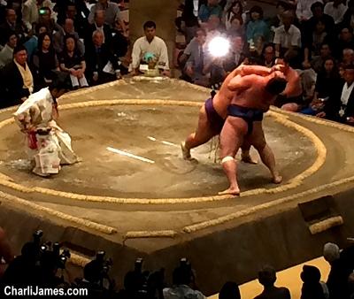 Sumo wrestling in Tokyo Japan