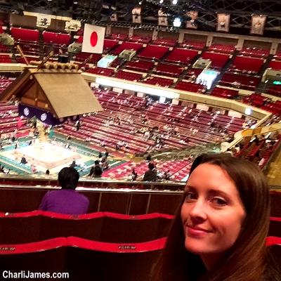 Watching Sumo wrestling in Tokyo, Japan!