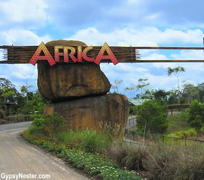 The Africa Exhibit at the Australia Zoo