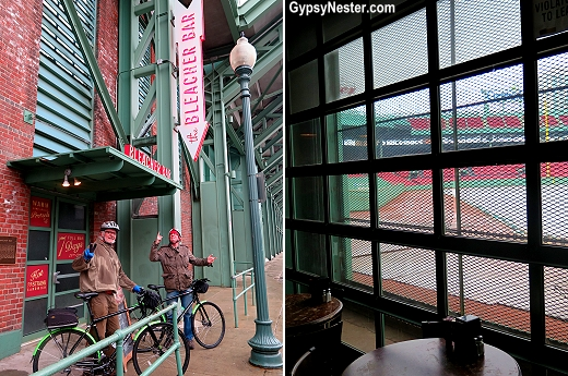 The Bleacher Bar at Fenway Park in Boston has perhaps the most coveted seat in baseball!