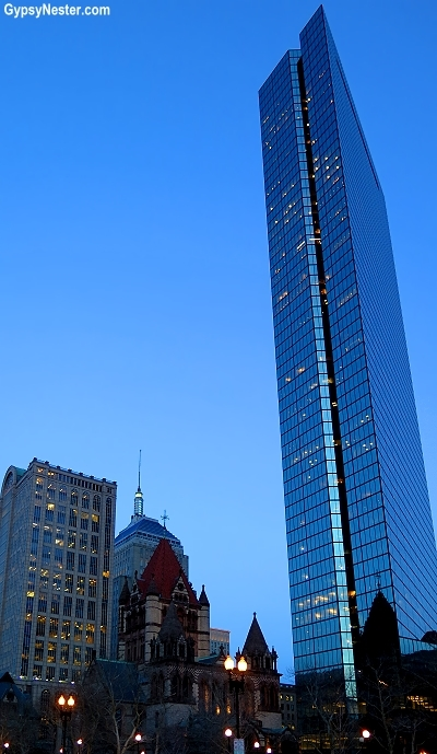 The John Hancock Tower, Copley Square in Boston