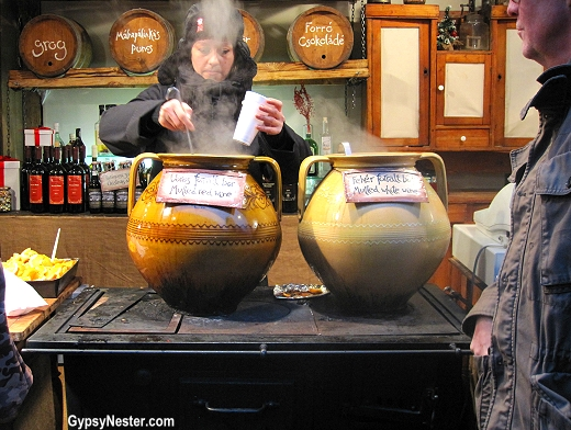 forralt bor, meaning boiled wine, the Hungarian version of mulled wine, or glühwein