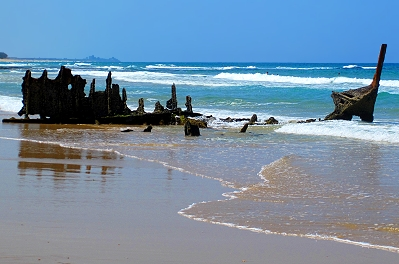 The only beach in the world named after a shipwreck is Dicky Beach, Caloundra, Queensland, Australia