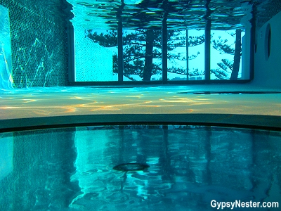 Underwater in the pool at Rumba Resort in Calundra, Queensland Australia