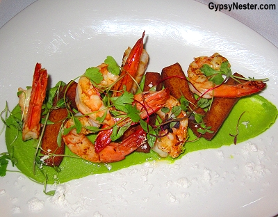 Mooloolaba prawns at Tides restaurant in Caloundra, Queensland, Australia