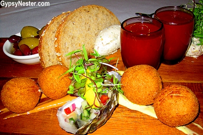 Tapas at Tides restaurant in Caloundra, Queensland, Australia