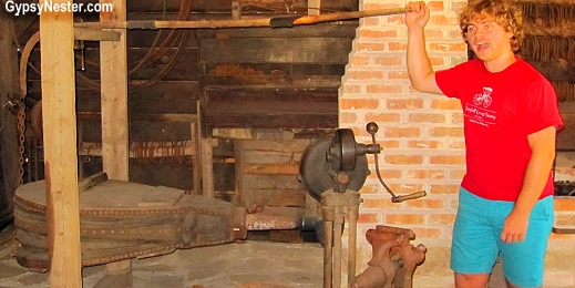 A fully functioning forge at Campbell Carriage Museum in Sackville, New Brunswick, Canada