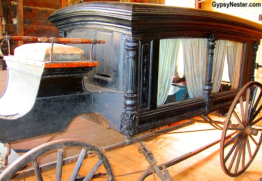 A hearse carriage a Campbell Carriage Museum in Sackville, Canada
