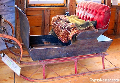 A pung sleigh at the Campbell Carriage Museum in Sackville, New Brunswick, Canada