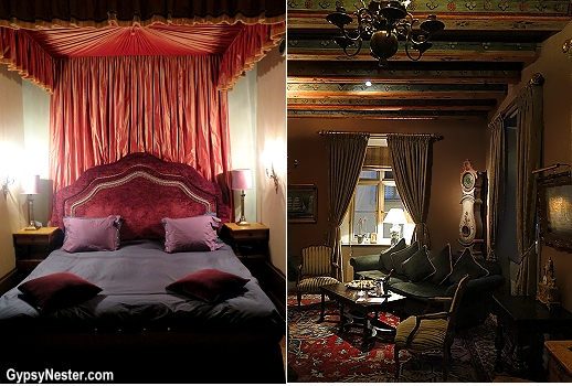 Our suite at the Victory Hotel in Stockholm, Sweden