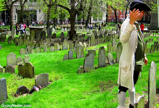Old Granary Burial Ground in Boston