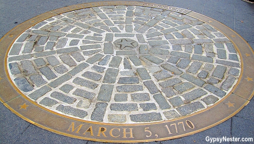 The site of The Boston Massacre