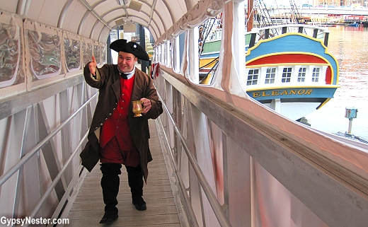 A patriot shows us around the Boston Tea Party Museum