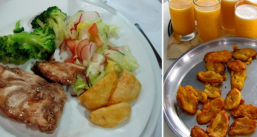 The food on the Yolita II with Road Scholar in the Galapagos