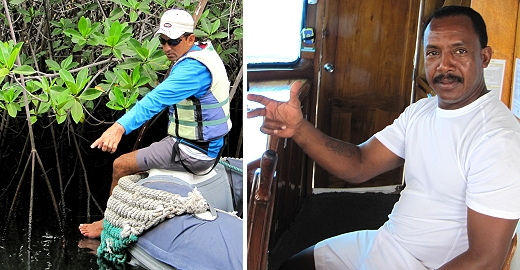 The crew of Yolita II with Road Scholar in the Galapagos
