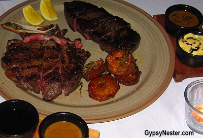 Angus and Wagyu steaks at Black Hide Steakhouse in Brisbane, Queensland, Australia