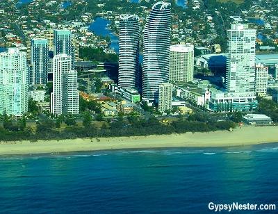 Peppers Broadbeach from above in Gold Coast, Queensland, Australia