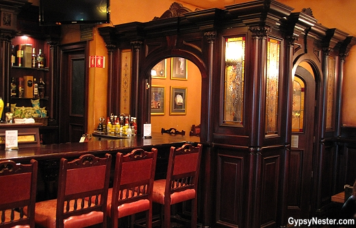 A traditional snug in Frank O'Dowd's Irish Pub in Galena, Illinois