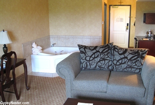 Our suite at the Irish Cottage in Galena, Illinois