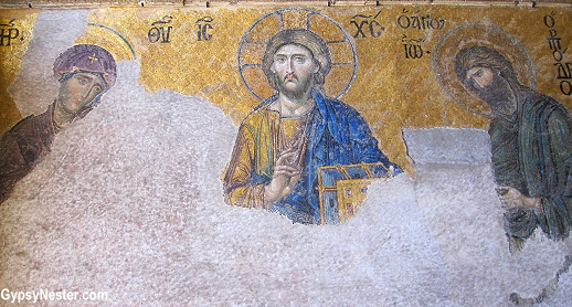 Christian art in Hagia Sophia, Istanbul, Turkey