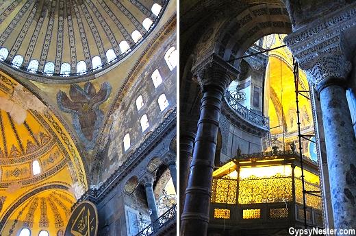 The interior of Hagia Sophia, Istanbul, Turkey