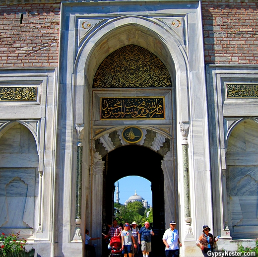 The Imperial Gate, Istanbul, Turkey in Topkapı Palace