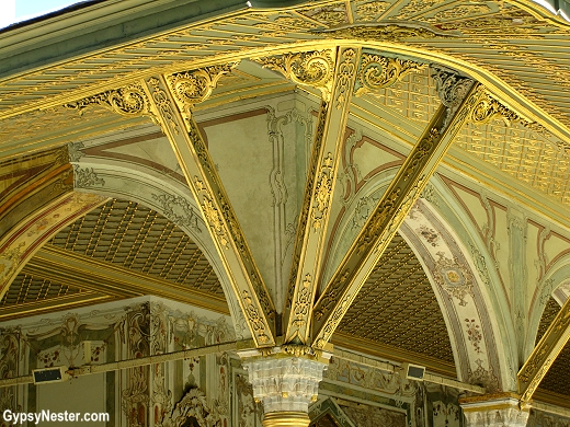 Detail of the porch outside the Imperial Divan, Istanbul, Turkey