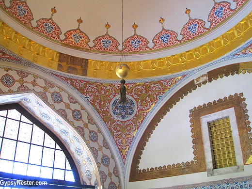 The Sultan's Window in the Imperial Council, Istanbul, Turkey