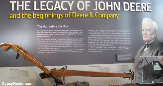 The legacy of John Deere at the John Deere Pavilion, Moline Illinois