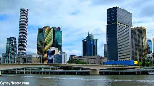 Downtown Brisbane from the Koala Cruise in Queensland, Australia