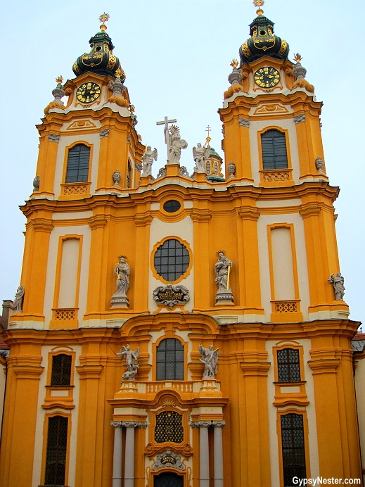 The Stiftskirche of the Benedictine Abbey in Melk, Austria on the Danube
