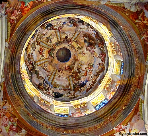 The cupola at The Benedictine Church at Melk Abbey, Austria
