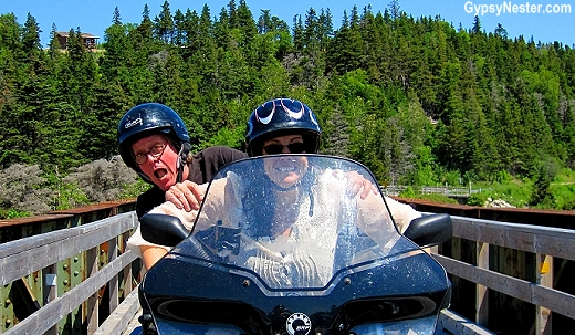 Riding ATVs in Newfoundland at Pirate's Haven