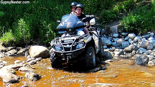 ATV ride over a river in Newfoundland!