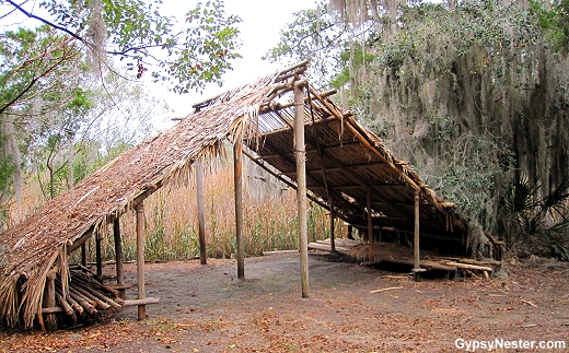 Guale Indian Villiage at Old Fort King George, Darien, Georgia